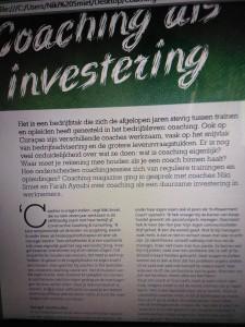 artikel Coaching Magazine deel 1